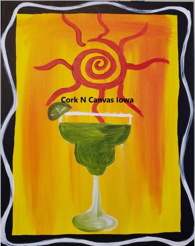 Online Painting - margarita- Cork n Canvas Iowa