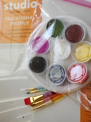 Online painting class -Kids 12x12 Umbrella-Cork n CanvasIowa