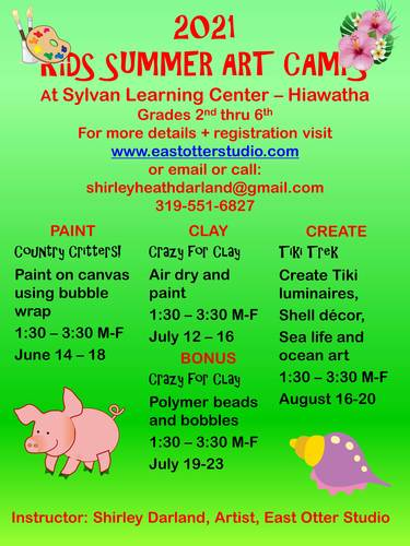 2021 Kids Summer Art Camps at Sylvan Learning - Hiawatha
