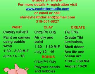 2021 Kids Summer Art Camp Week 2 - Crazy for Clay