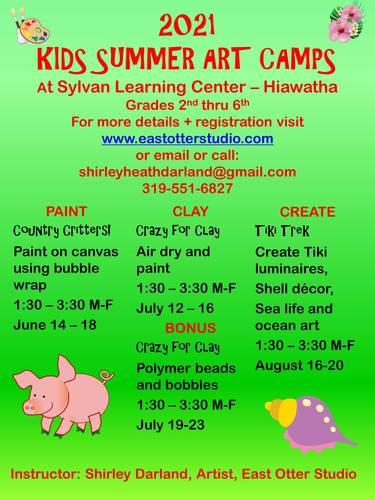 2021 Kids Summer Art Camp Week 3 - Crazy for Clay II