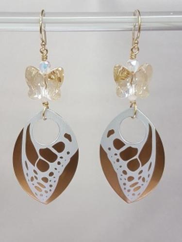 Butterfly Dangle Earrings through Kirkwood
