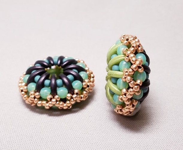 Gyrls Night Out:  Domed Crescent Beads