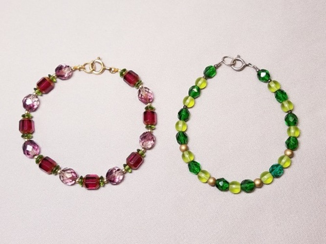 Make 2 Bracelets:  Intro to Stringing Beads