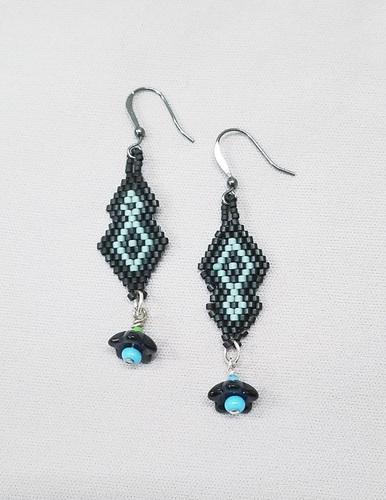 Brick Diamond Earrings