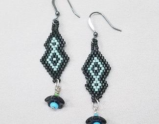 Search brick stitch diamond earrings beadology iowa