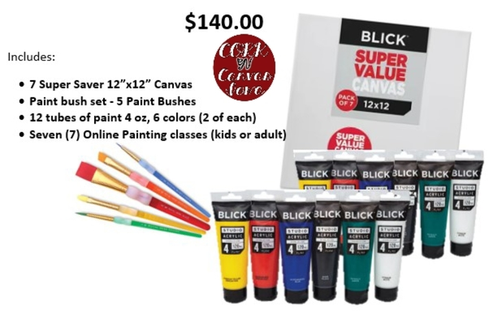Online painting -12x12 Flag - Cork n Canvas Iowa