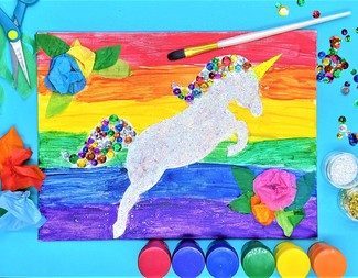 Search oh my glitter bedazzled unicorn art supplies