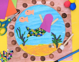 Search end of summer bash baby mermaid porthole art supplies 2