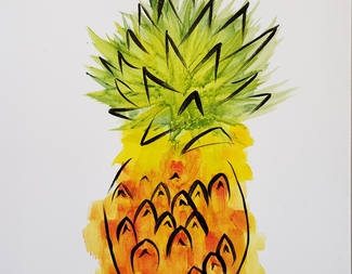 Search water color pineapple