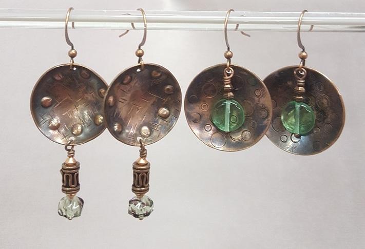 Cupped Copper Earrings through Kirkwood