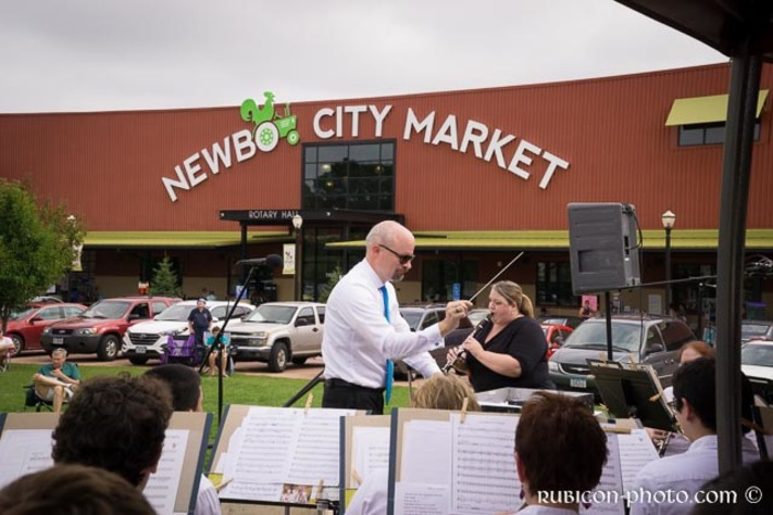 CR Municipal Band Day at NewBo City Market