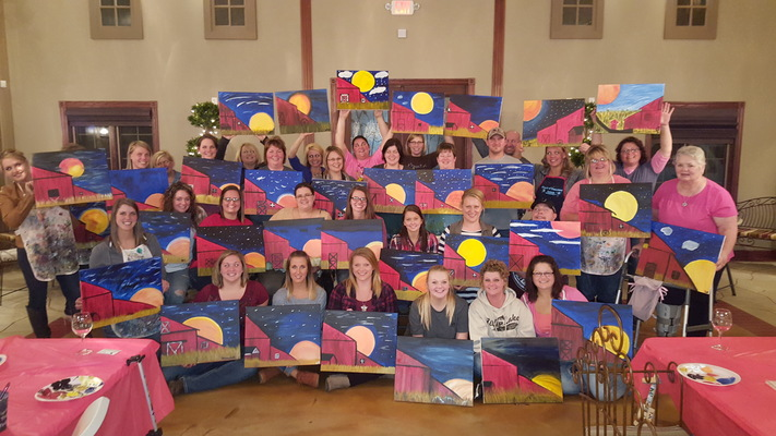 Edgewood Rd Hy-Vee -Harvest Moon-Cork N Canvas Iowa