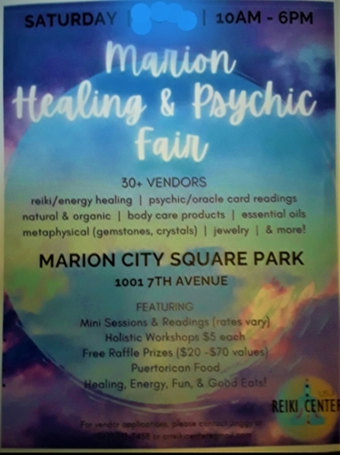 Marion Healing in the Park