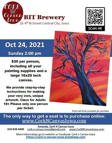 BIT BREWERY - Indigo Tree- Cork N Canvas Iowa
