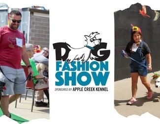 Search dog fashion show pic