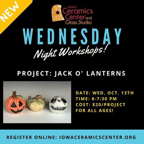 Wednesday Night Workshop: Clay Jack O' Lanterns