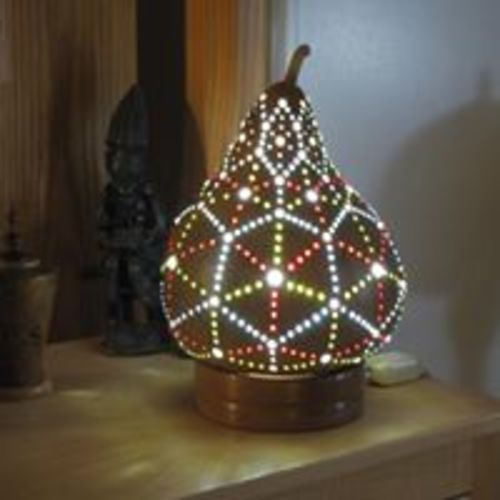 Gallery Walk:  Rick Hugill's Gourd & Wood Lamps