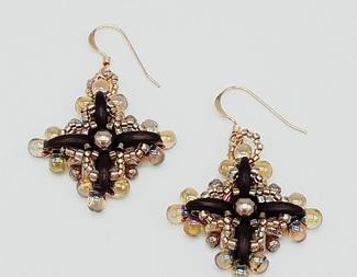 Search cosmic flora earring 2 hole bead beadology iowa