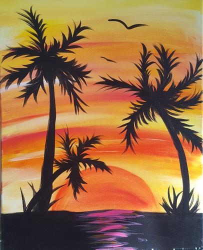 Wild Hogs Saloon & Eatery - PalmTrees - Cork N Canvas Iowa