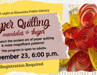 Search adult craft night paper quilling  1