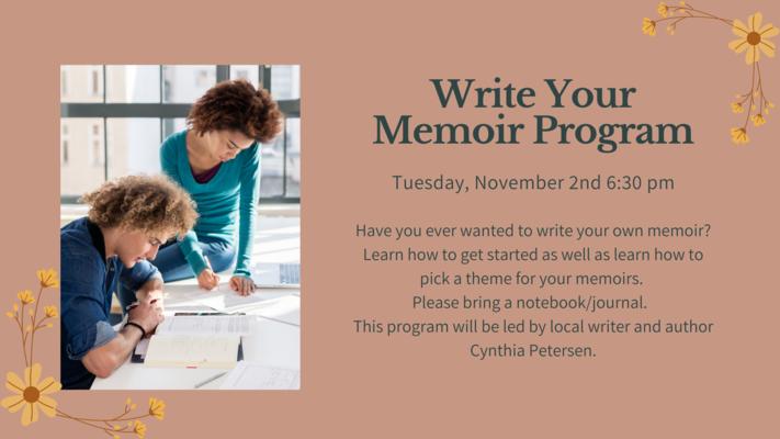 Write Your Memoir Program