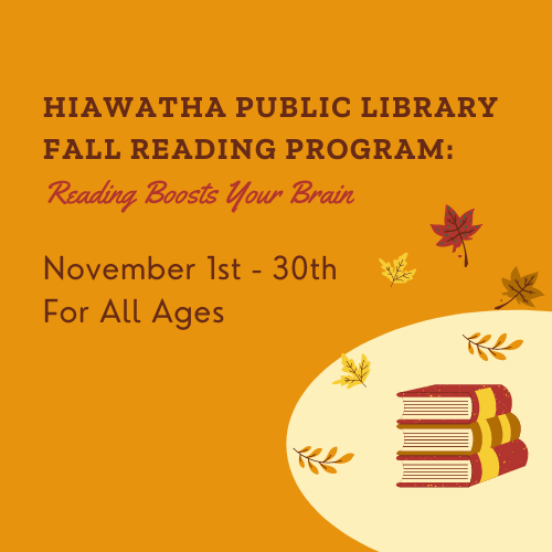 Fall Reading Program: Reading Boosts Your Brain