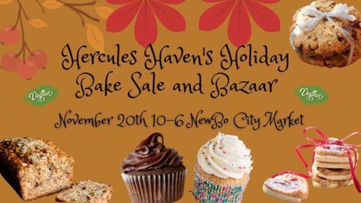 Hercule's Haven Holiday Vegan Bake Sale and Bazaar