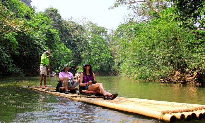 Khao Lak Safari Bamboo Rafting and Elephant Riding Tour
