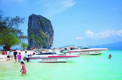 ทัวร์กระบี่ 4เกาะ (เรือสปีดโบ๊ท)