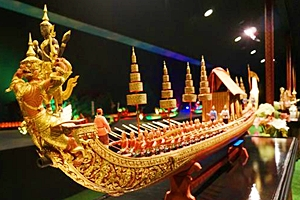 Miniature Thai Royal Barge Performance Center