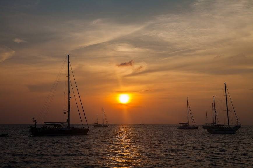 Sunset Sailing Catamaran Maithon Island