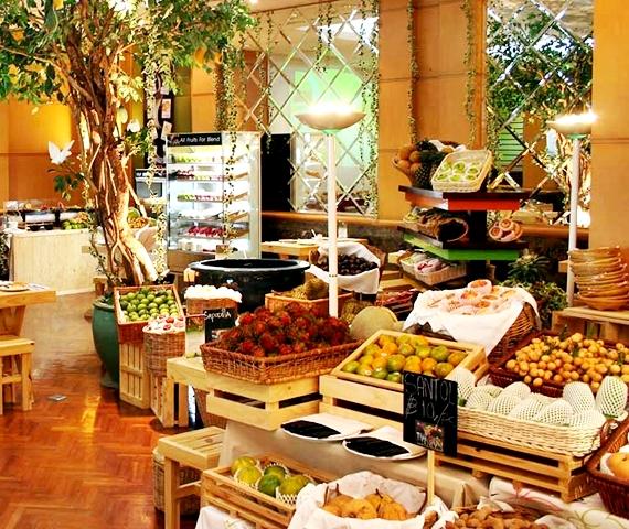 Fruit Buffet at Baiyoke on 18th floor Sky Hotel Bangkok