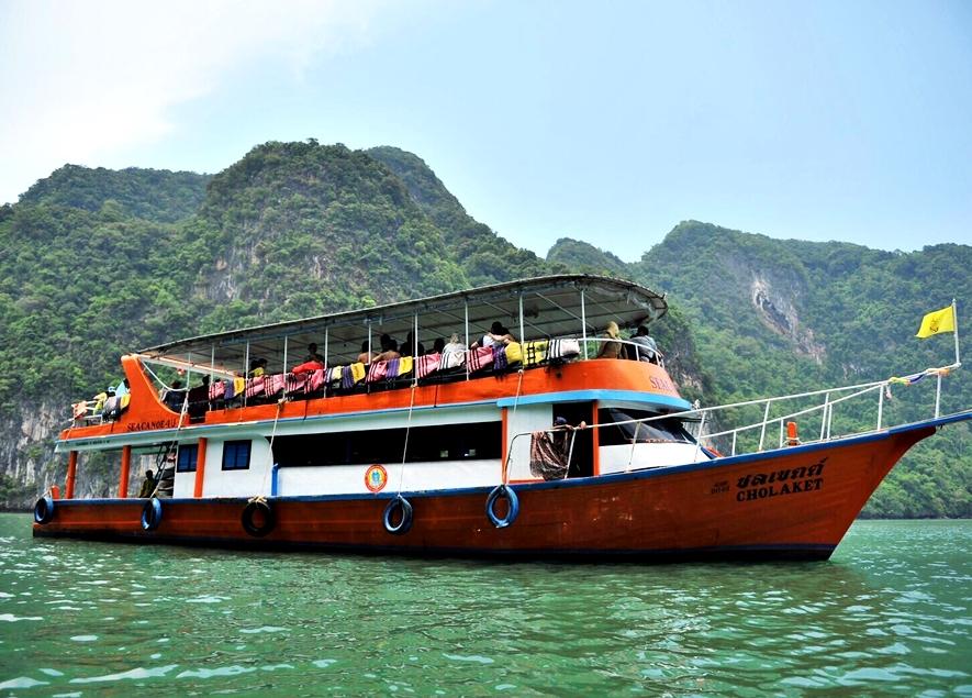 ทัวร์เกาะเจมส์บอน เขาตะปู เต็มวันโดยเรือใหญ่