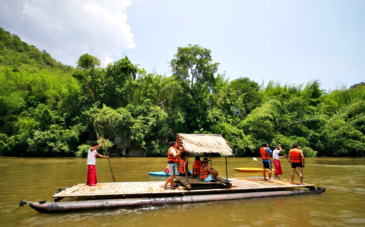 Sai Yok Noi Waterfall - Elephant Riding - Bamboo Rafting - Lawa Cave