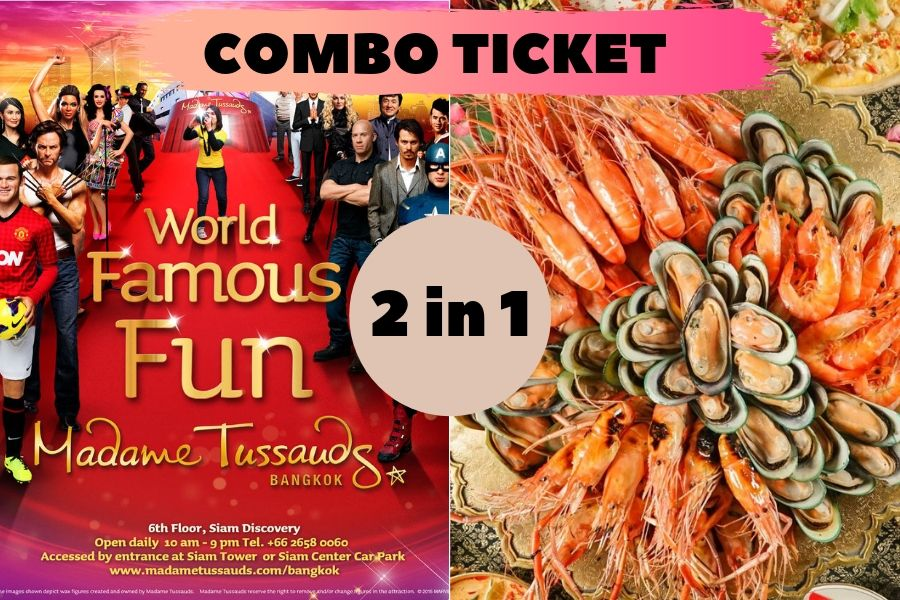 2 in 1 Combo Ticket: Madame Tussauds + Dinner on 75, 76, or 78 floor at Baiyoke Sky Hotel