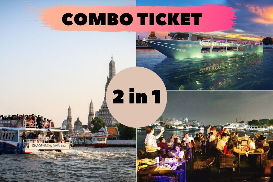 2 in 1 Combo Ticket Hop On Hop Off Boat4U + Meridian Cruise