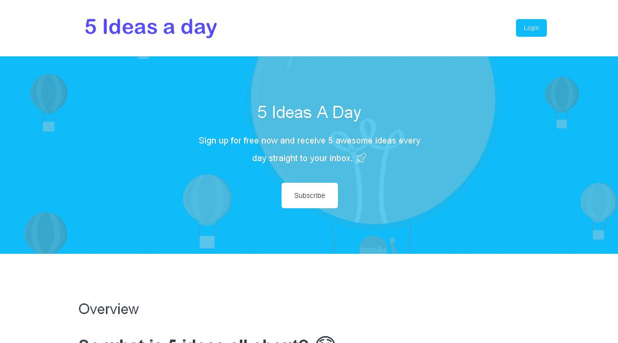 5 Ideas A Day newsletter image