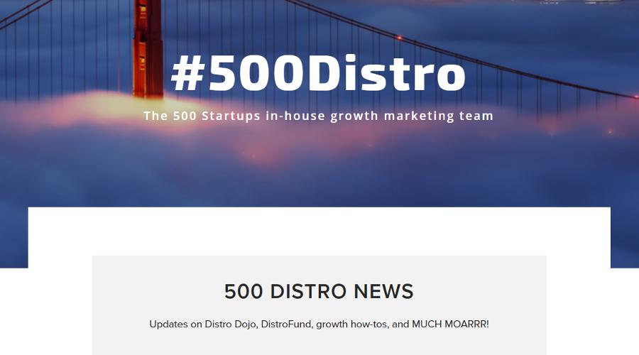 Distrosnack - 500 Startups newsletter image