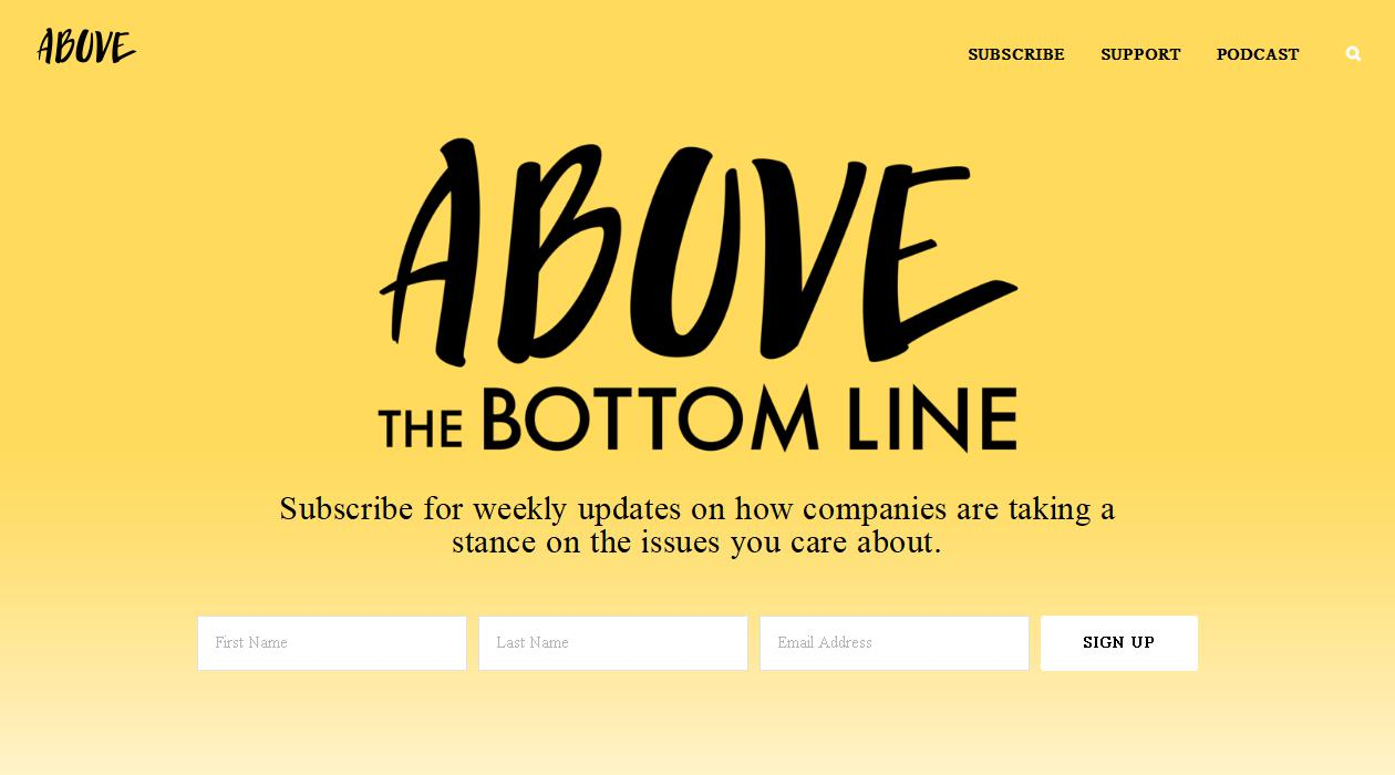 Above The Bottom Line newsletter image