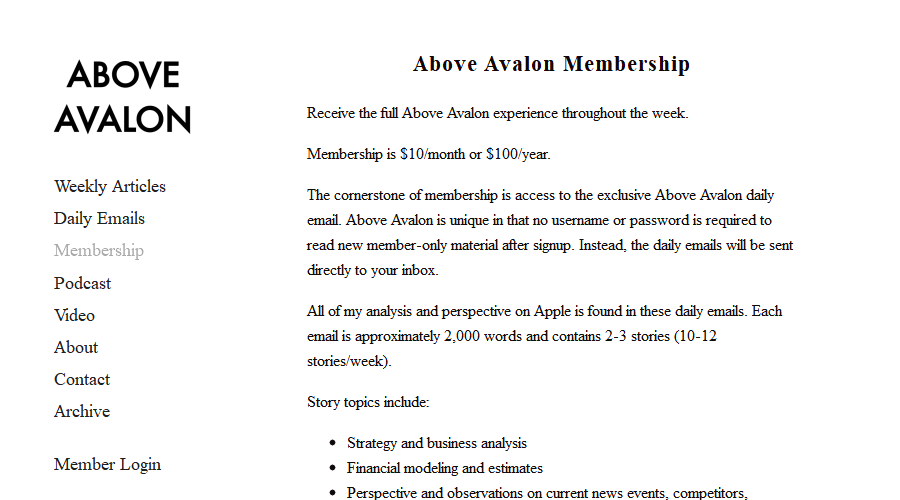 Above Avalon newsletter image
