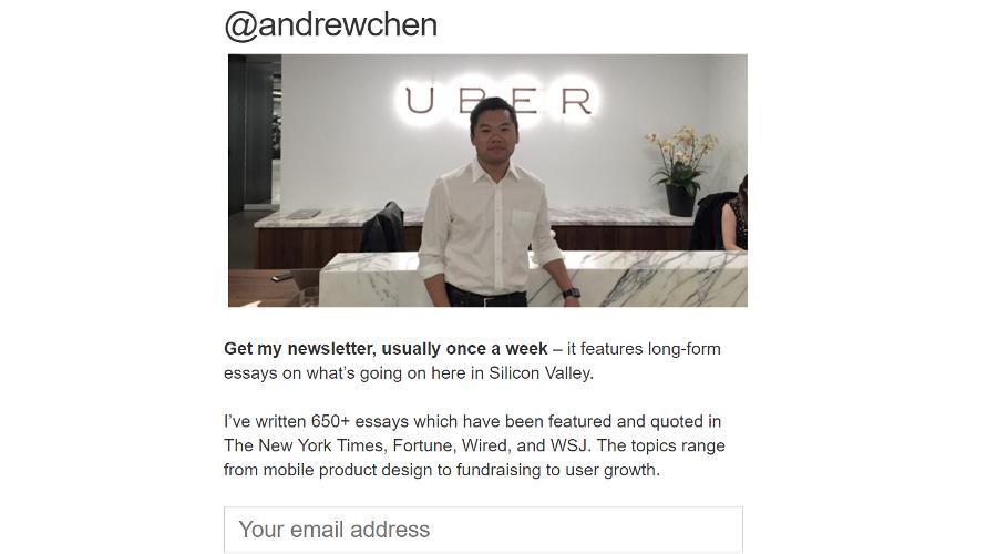 Andrew Chen newsletter image