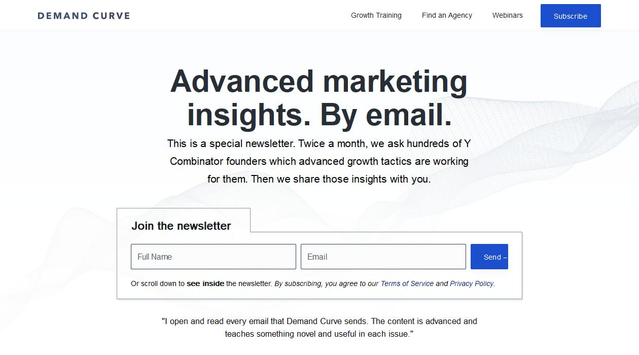 Advanced Growth Marketing Insights newsletter image
