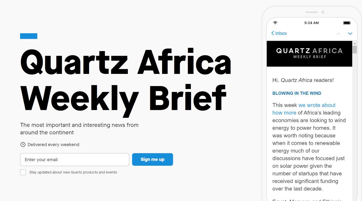 Africa Weekly Brief newsletter image