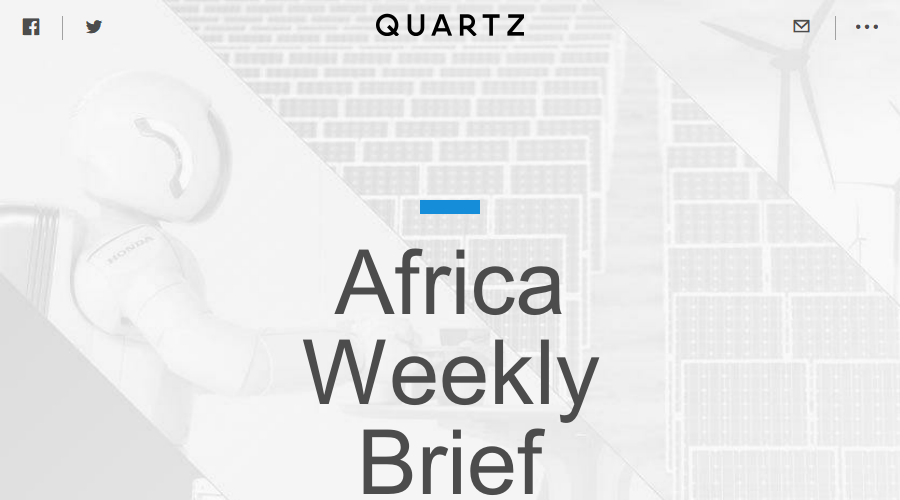 Africa Weekly Brief newsletter image