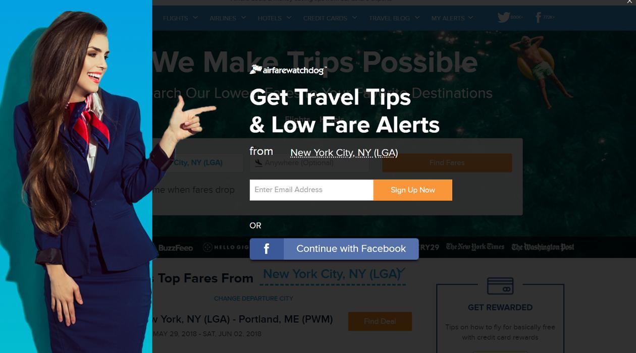 Airfarewatchdog newsletter image