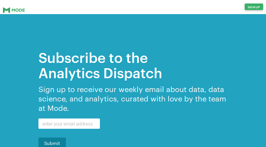 Analytics Dispatch newsletter image