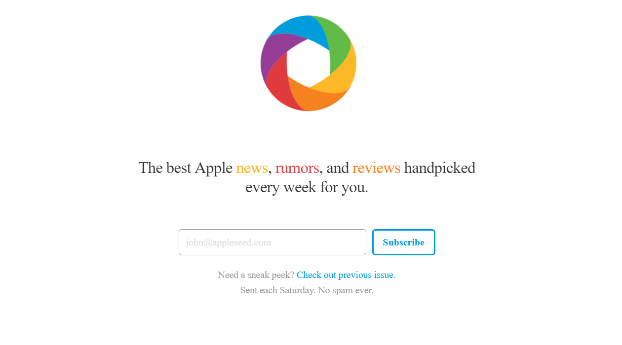 Apple Focus newsletter image