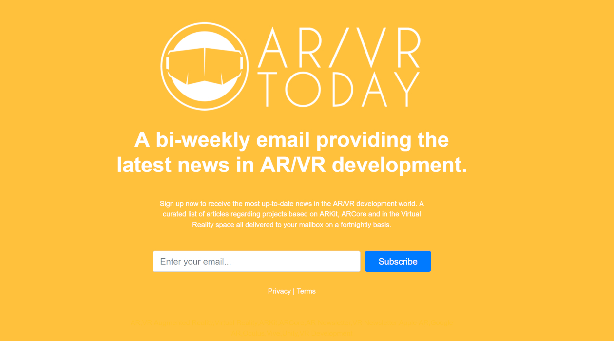 AR/VR Today newsletter image