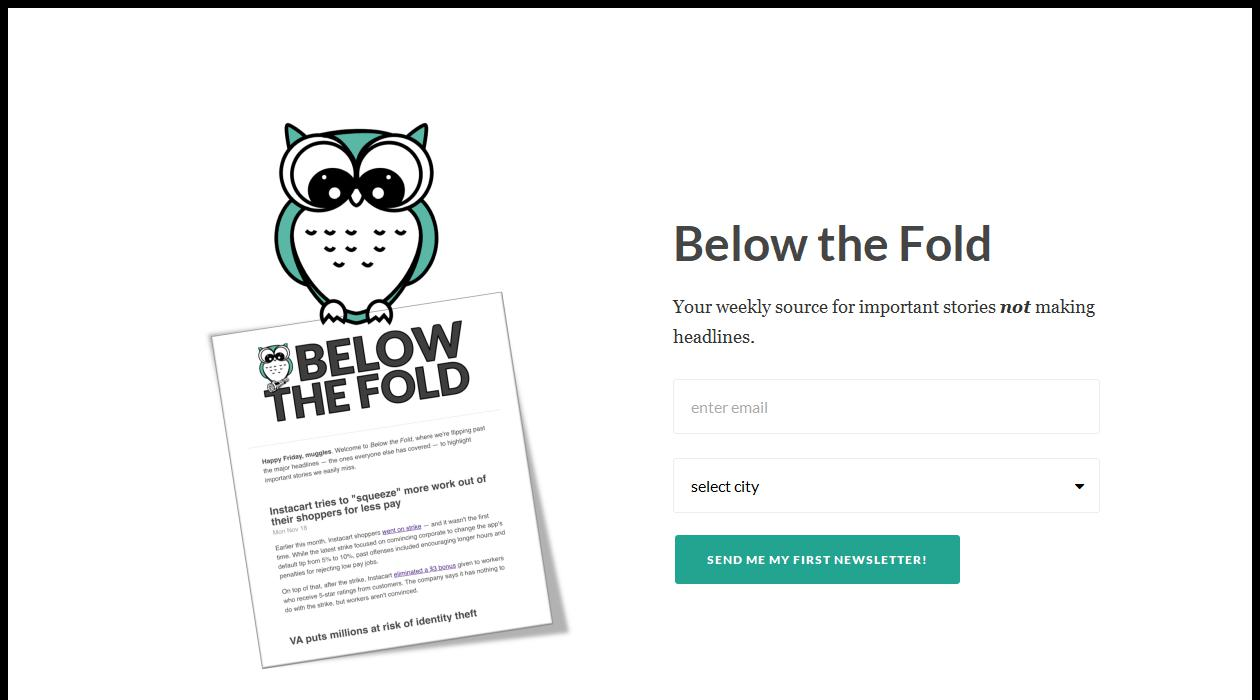 Below the Fold newsletter image